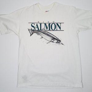 Vintage 1991 King Salmon Single Stitch Shirt 90s L